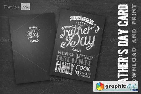 Chalk Board Father's Day Card 39726