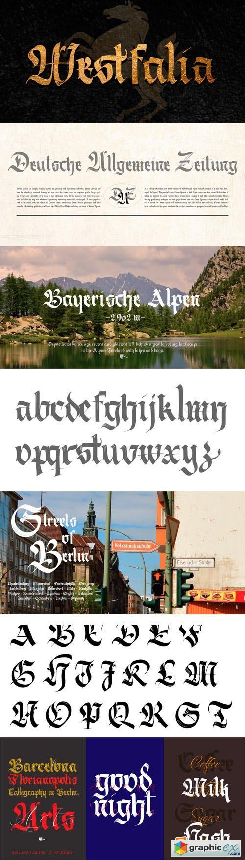 Berliner Fraktur Font for $49