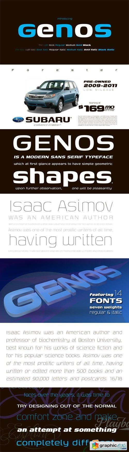 Genos Font Family - 14 Fonts for $80
