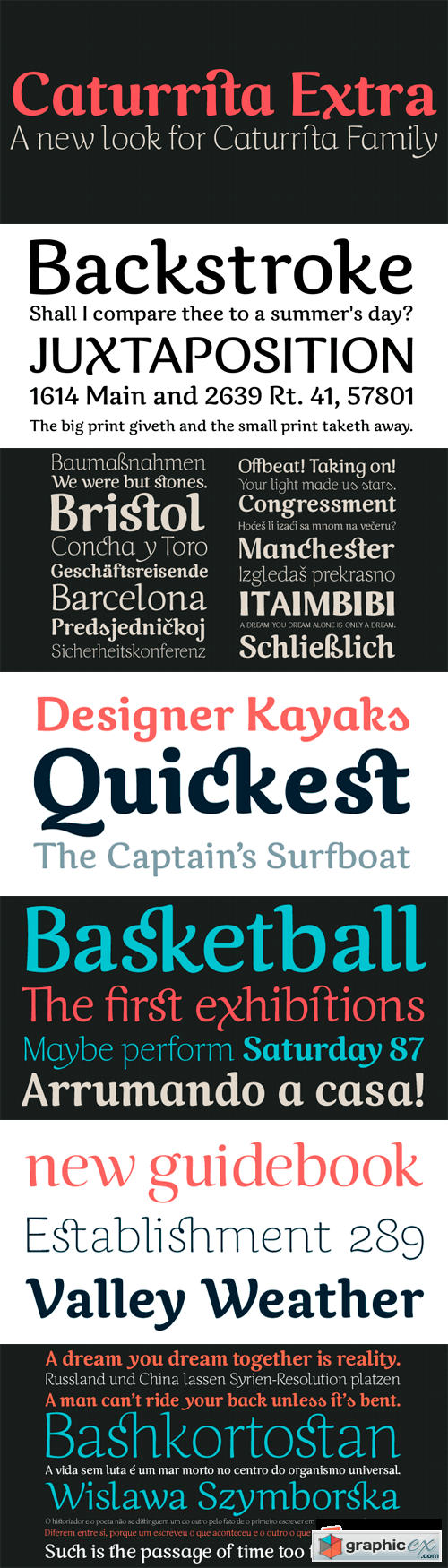Caturrita Font Family - 5 Fonts for $40