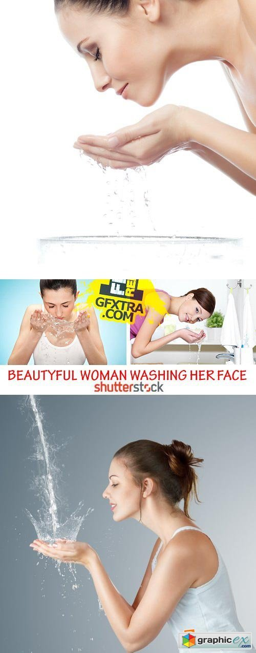 Amazing SS - Beautiful woman washing her face 23xJPG