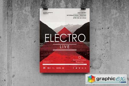 Electro Concert - Flyer Poster 40638