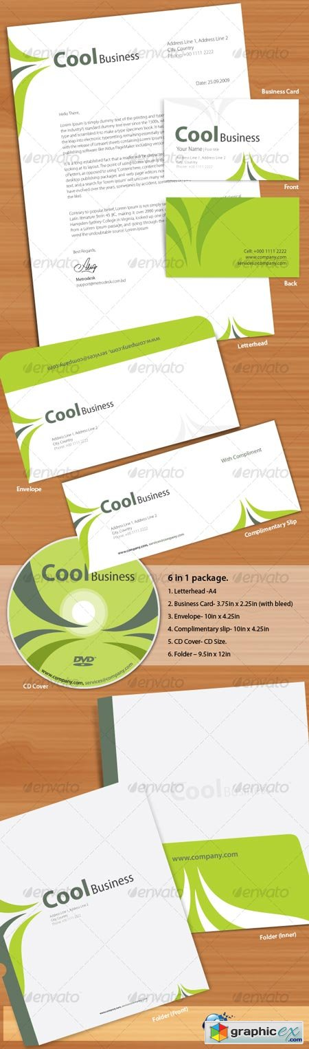Cool Corporate Identity 66078