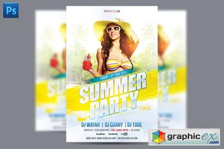 Summer Party Flyer Template 40973