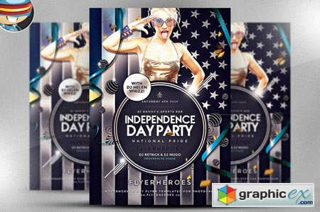 Independence Day Party Flyer 40941