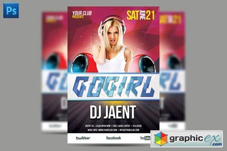 Gogirl Flyer Template 40962