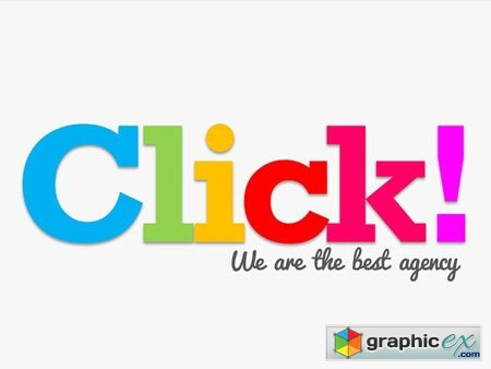 Colorful Click Keynote Template 41112