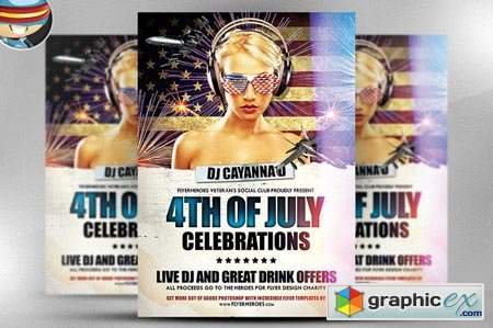 4th July Flyer Template 40954