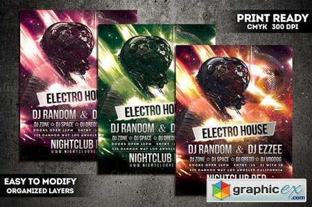Futuristic Party Flyer 001 41575