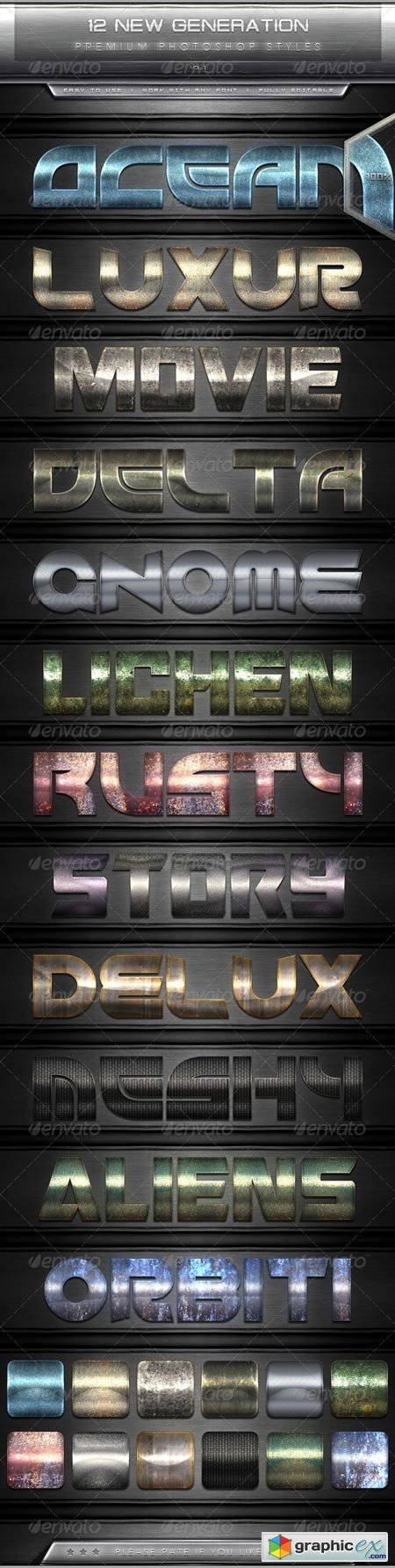 12 New Generation Text Effect Styles Vol.1 7630718