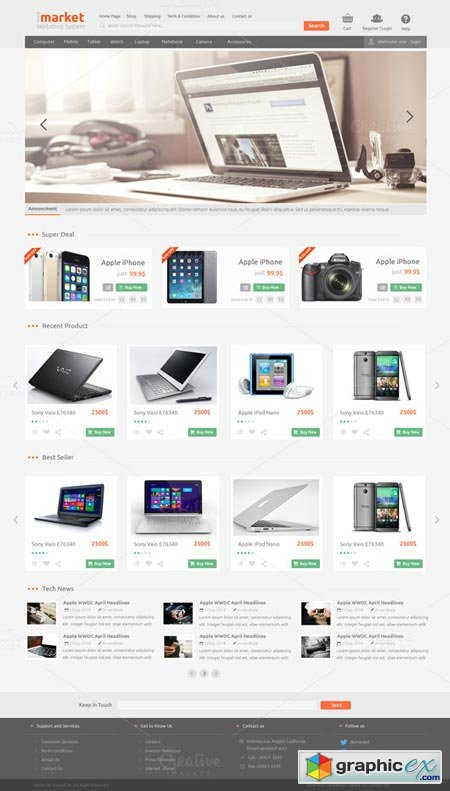 iMarket - Digital E-Commerce PSD 38660