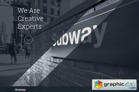 SUBWAY - Creative HTML5 Template 38527