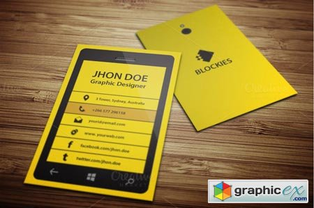 Smart Phone Business Card Template 38202