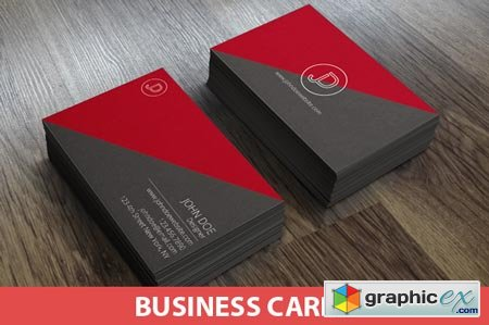 Minimal Split Business Cards 38636
