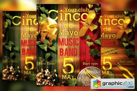 Cinco de Mayo Flyer 38339
