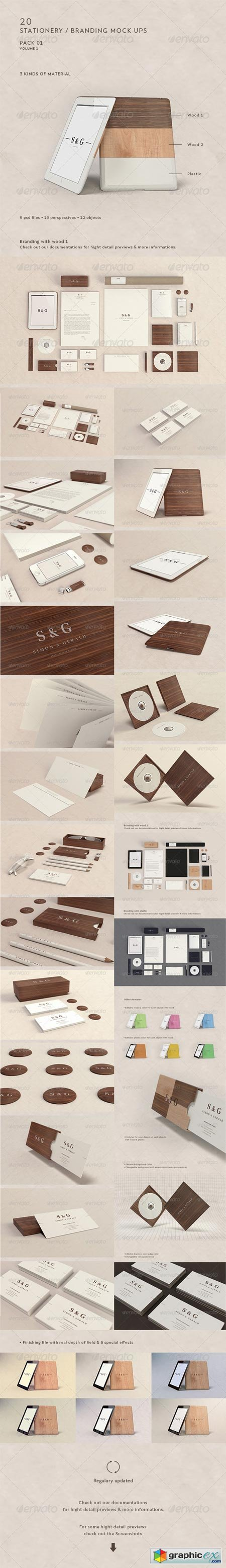 Stationery Branding Mock-Up - Woods & Plastic 4754874