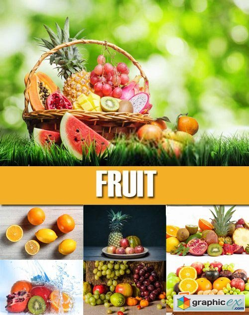 Stock Photos - Fruit, 25xJPG