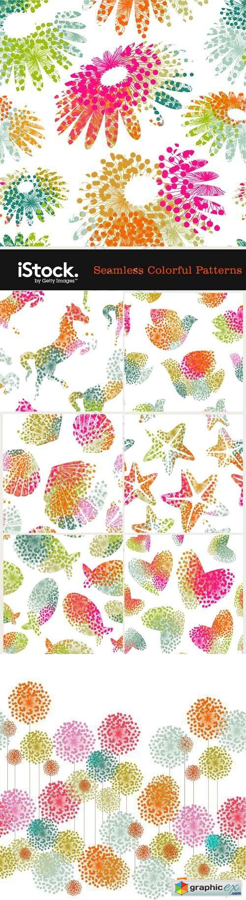 Seamless Colorful Patterns 19xEPS
