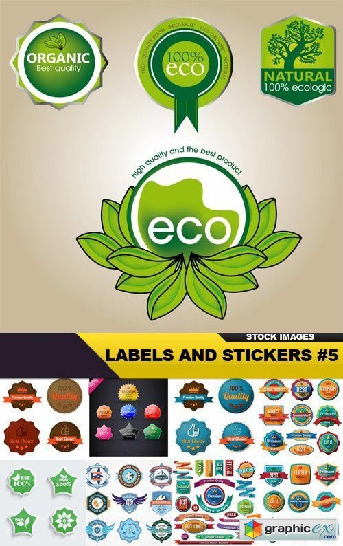 Labels And Stickers #5 - 25 Vector