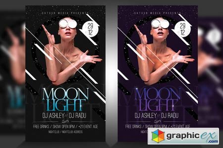 Moonlight Flyer Template PSD 43622
