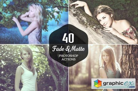 40 Fade and Matte Photoshop Actions 22369