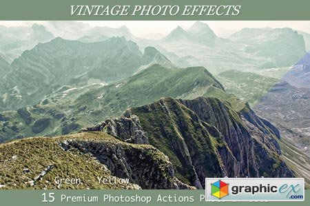 15 Vintage Photo Effects- PS Actions 28503