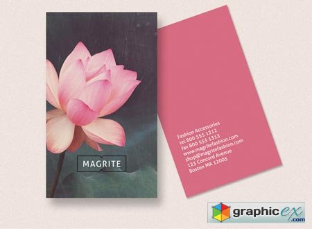 Business Card - Lotus Blossom 37658