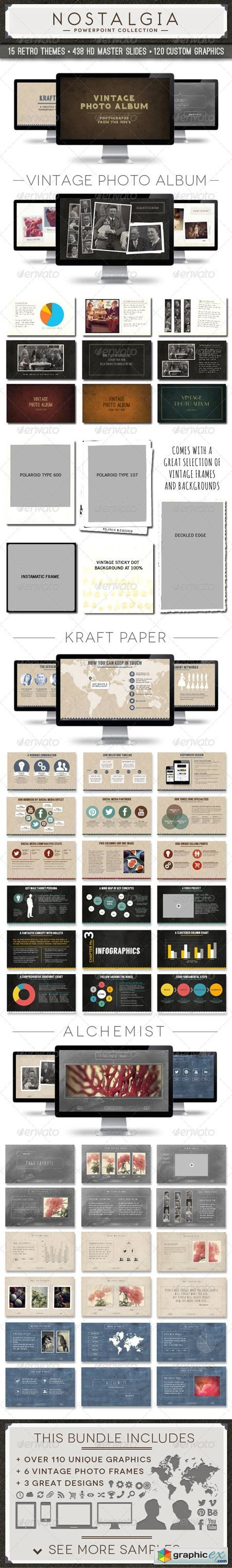Nostalgia Collection Powerpoint Template Bundle 6794652
