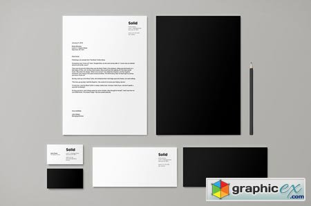 Stationery Template Identity - Solid 37857