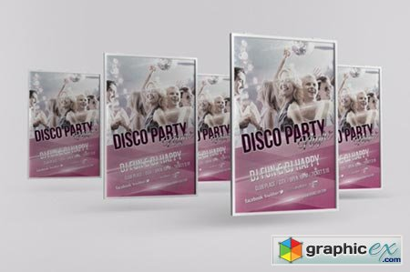 Disco Party Night Flyer Template 37870