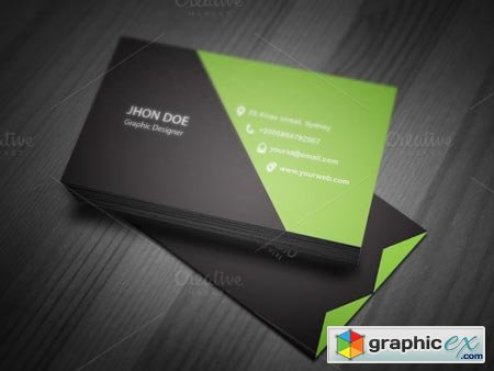 Corporate Business Card Timeplate 37667