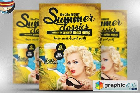 Summer Classics Flyer Template 43303