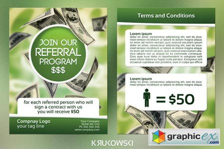 Referral Program 2 Sided Flyer 43552