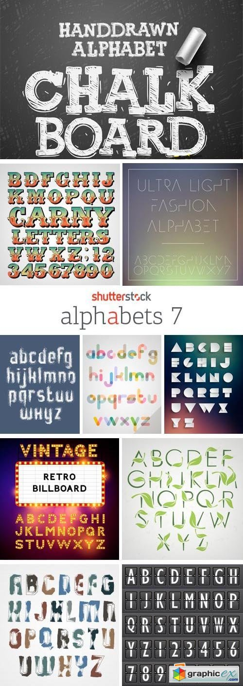 Amazing SS - Alphabets 7, 25xEPS