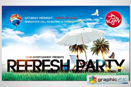 Refresh Party - Front & Back 42981