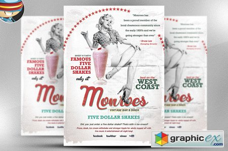 Monroes Flyer Template 42913
