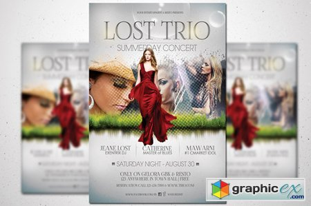 Lost Trio Flyer - Summer Vaganza 43058