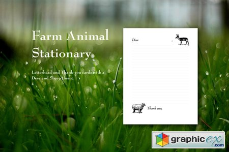 Farm Animal Stationery 43090
