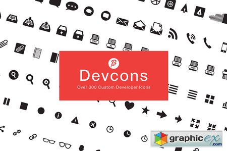 Devcons - 300+ Font Icons 35241