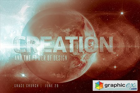 Creation Church Flyer Invite 42978