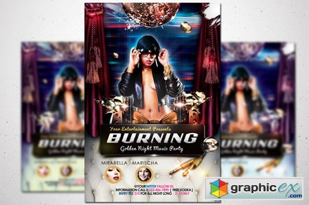 Burning Party Flyer 42989