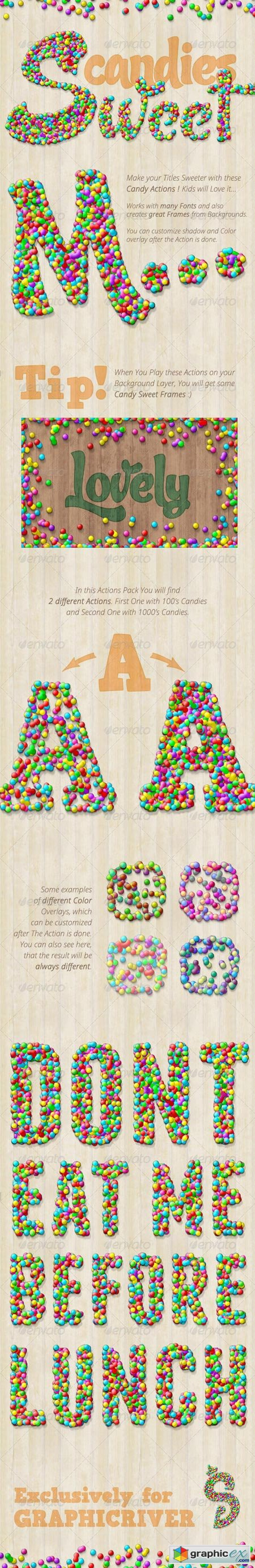 Candy Text Creator - Photoshop Actions 7588581