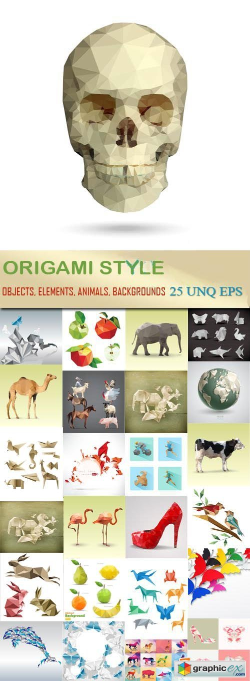 Origami style, 25xEPS