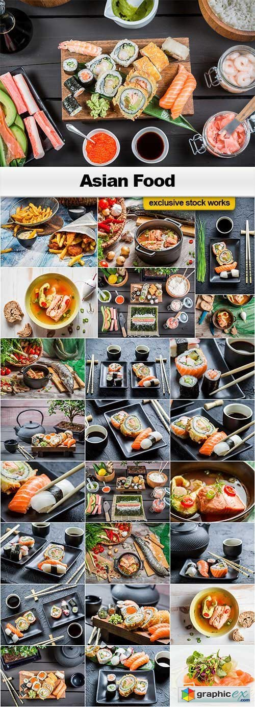 Asian Food Collection - 25x JPEGs