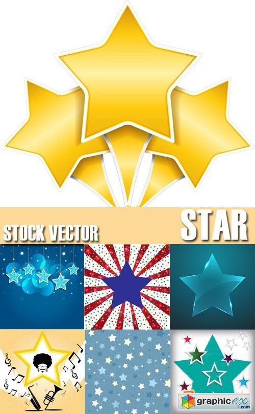 Stock Vectors - Star Background, 25xEPS