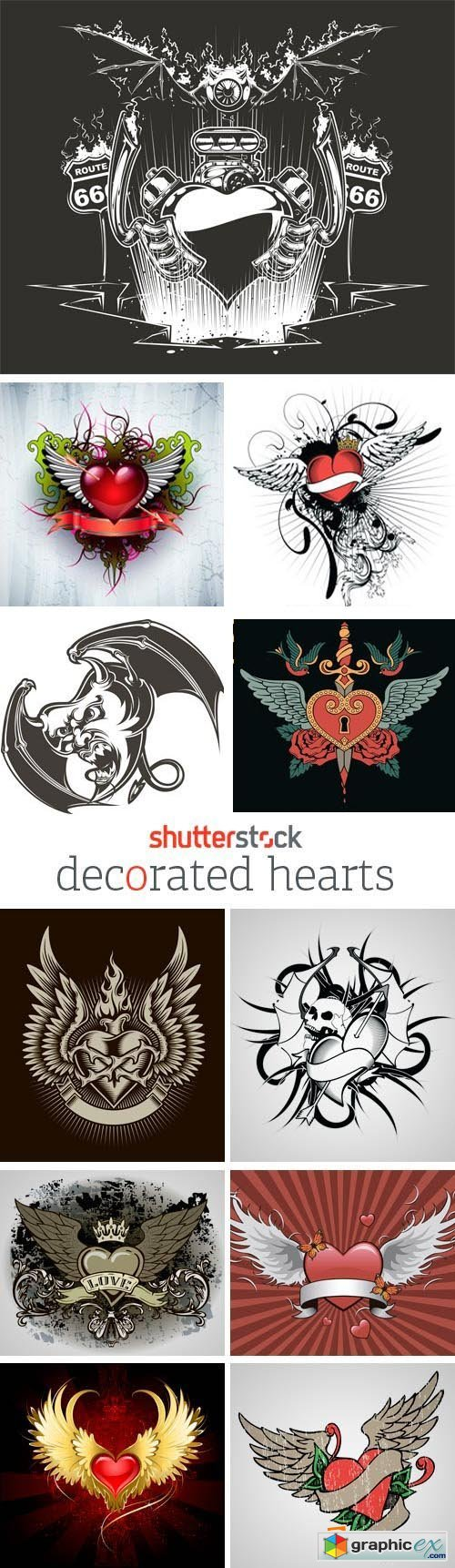Amazing SS - Decorated Hearts 25xEPS