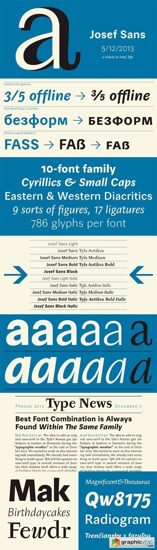 Josef Sans Font Family - 10 Fonts for $275
