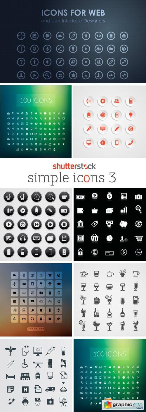 Amazing SS - Simple Icons 3, 25xEPS