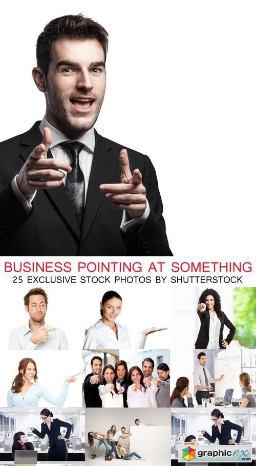 Business Pointing at Something 26xJPG