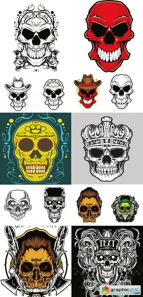 Fantastic Skulls Collection 55xEPS